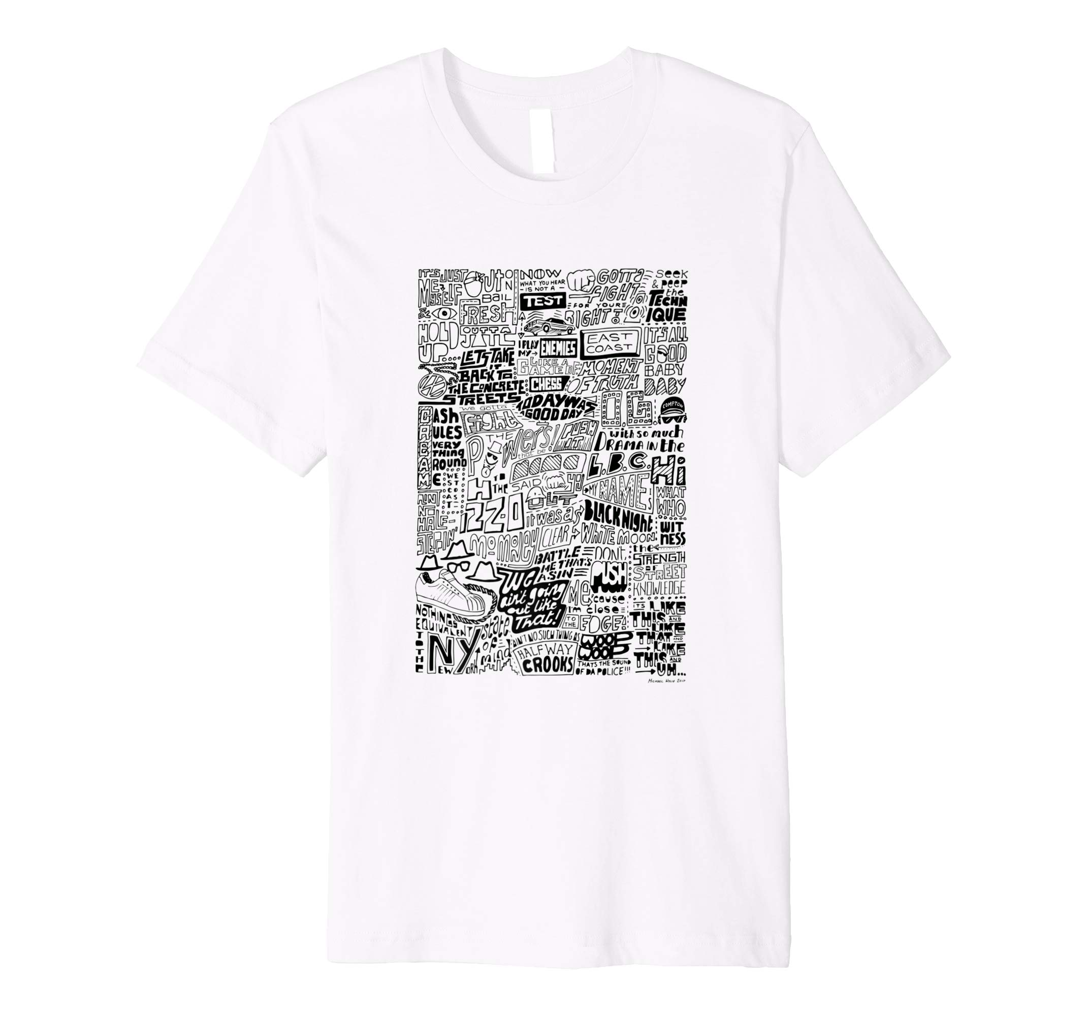 d9671aa804 The Evolution of Hip Hop – typographical t-shirt