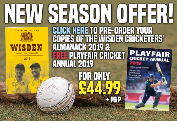 FREE PLAYFAIR CRICKET ANNUAL RRP £9.95 ON OFFER AT CRICSHOP
